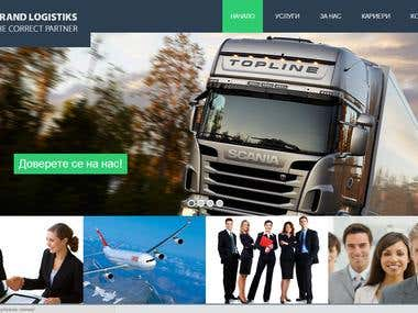 Wordpress Logistics Website