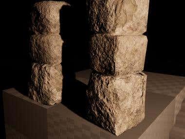 Stone Pillar 3D Asset