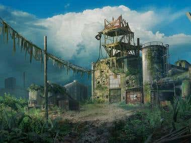 Post apocalyptic factory