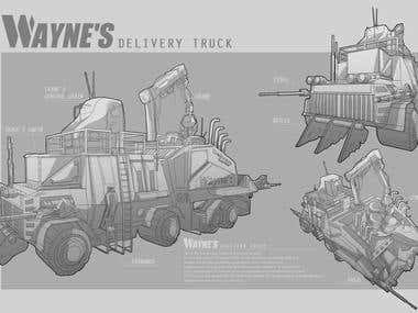 Wayne's Delivery Truck