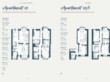 Floorplans for marketing/illustrator purpose