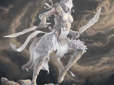 Light's battle maiden concept art