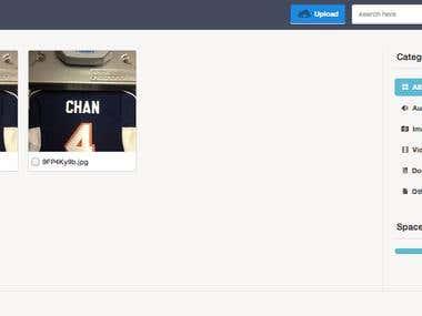 Upload page design