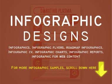 Info-graphic designs.