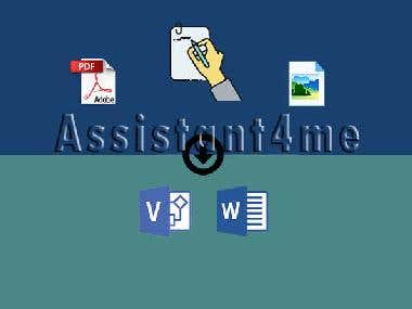 Converting hand-written to Visio output
