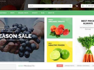 Shopify site