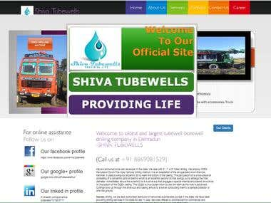 A responsive website for Shiva Tubewells