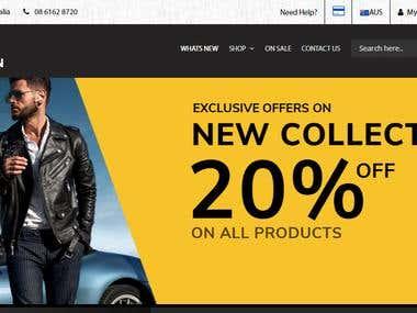 Galwayman Shopping website
