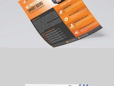 Marketing flyer design.
