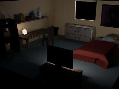 Night at bedroom