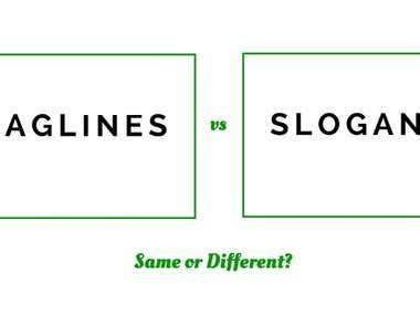 Tagline and Slogan