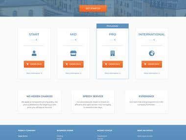 Luxstart - Landing page