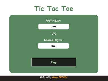 Tic Tac Toe (JS)