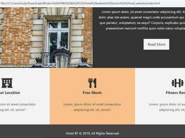 Clean HTML5 and CSS3 Hotel website template