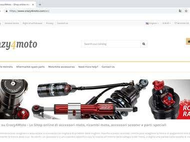 Crazy4moto Prestashop Website