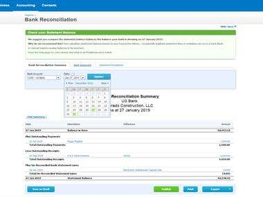 Bank Reconciliation using Xero