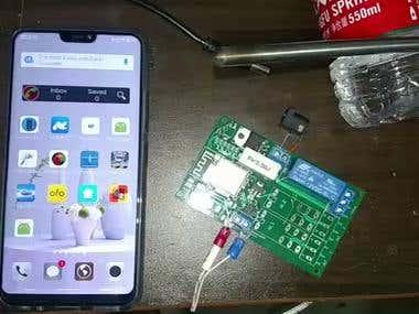 Thermocouple temperature measurement and smartphone app.