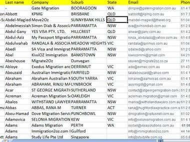 Migration agent data base