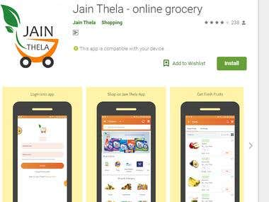 online grocery app and website