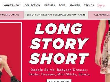 online women cloth store