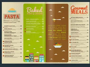 "Menu Design for ""Gustosissima"""
