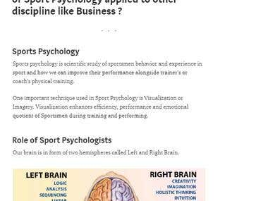 Psychology article written on topic: Virtual Imagery