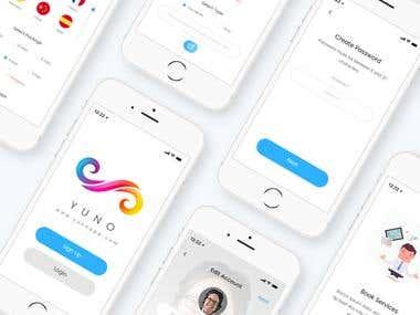 YUNO App UI/X Design