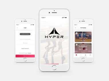 Hyper App UI/X Design