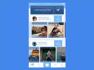 Travel stories app