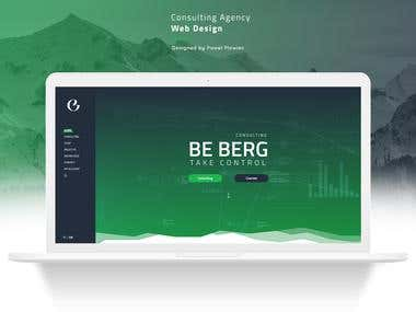 Consulting agency UI layout, web design