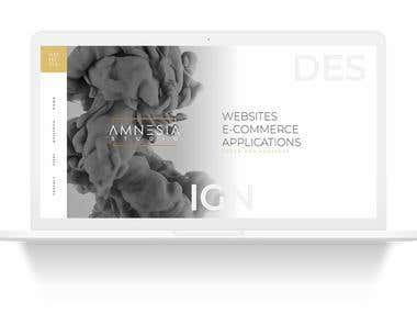 As agency web design, ui