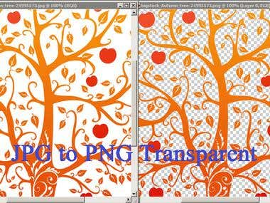 JPG to PNG Transparent without loss of Quality :)