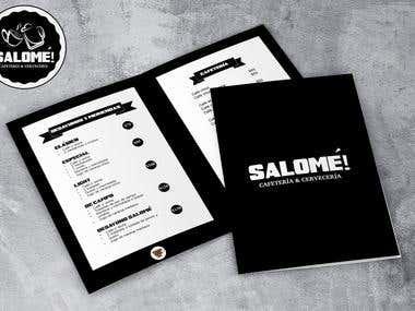Branding : Logo and menu for Restaurant