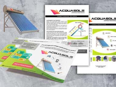 Flyer / Presentation folder/ User manual: Solar water heater