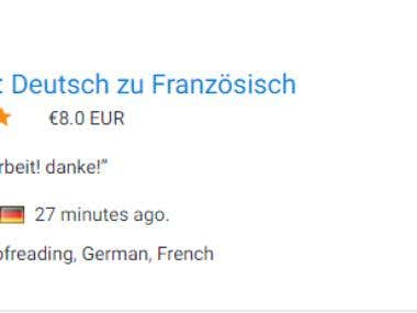 Translation from German to French