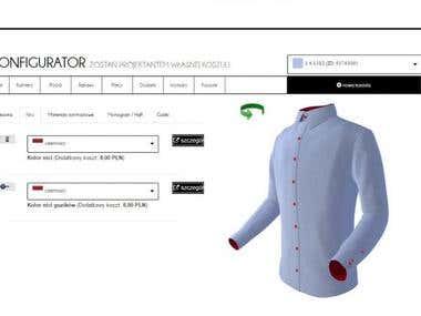 Men's shirt configurator