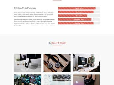 ............ PSD to HTML ............ Personal web template