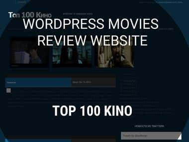 Wordpress Movies Review Website - Top 100 Kino