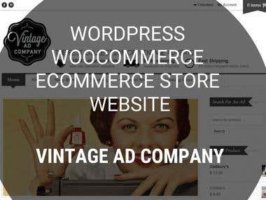Wordpress WooCommerce store - Vintage Ad Company