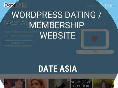 WordPress Membership Website - Date Asia