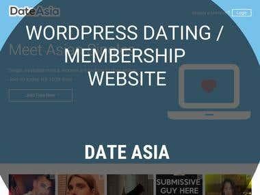 WordPress Membership Website - Date Asia