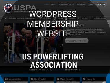 WordPress Membership website - US Powerlifting Association