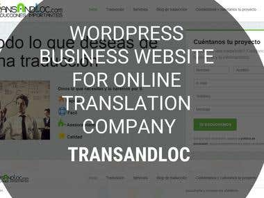 WordPress Business Website - transandloc