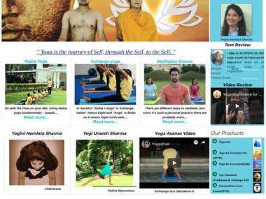 Yoga Website developed in Drupal, www.yogasthali.com