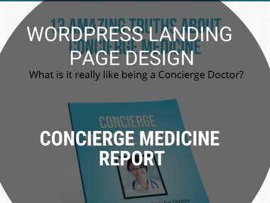 Landing Page Design - CONCIERGE MEDICINE REPORT