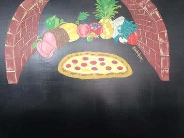 mural design- Pizza Shop