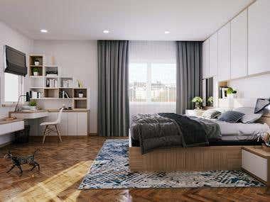 Interior renderings - bedroom