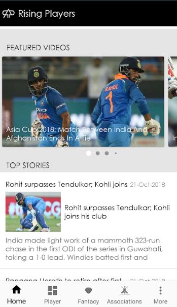 Rising Player (Live Cricket App)