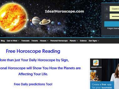 Horoscope Website