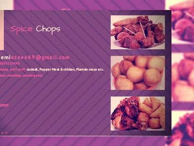 Facebook banner for spice chops company